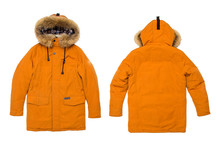 Yellow Down Jacket Isolated On...