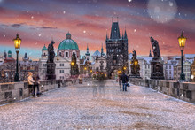 Famous Historic Charles Bridge...