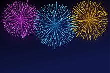 Fireworks Brightly Colorful. B...