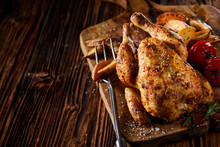 Grilled Young Poussin Or Sprin...