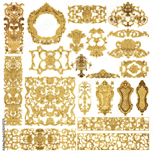 Photo  Gilded stucco, collection gold cartouche