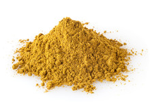 Pile Of Curry Powder Isolated ...