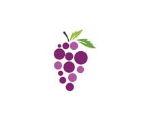 Grapes Vector Icon Illustration Design