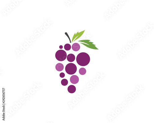 Grapes vector icon illustration design Billede på lærred