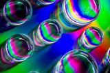 Fototapeta Tęcza - Abstract Rainbow Water Drops