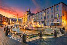 Rome. Cityscape Image Of Navon...