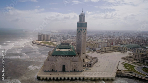 Canvas The Hassan II Mosque or Grande Mosquée Hassan II is a mosque in Casablanca, Morocco