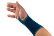 Verletzte hand mit bandage