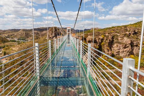 Cadres-photo bureau Ponts glass suspension bridge in the mountains