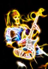 Flaming Evil Phantom Playing A...