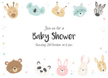 Baby Shower Invitation With Cu...