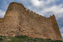 Part Of Castle Larisa, The Ancient And Medieval Acropolis Of The City Of Argos In Peloponnese, Greece