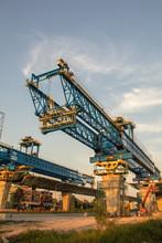 Construction Crane And Girder ...