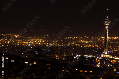 night view of Tehran