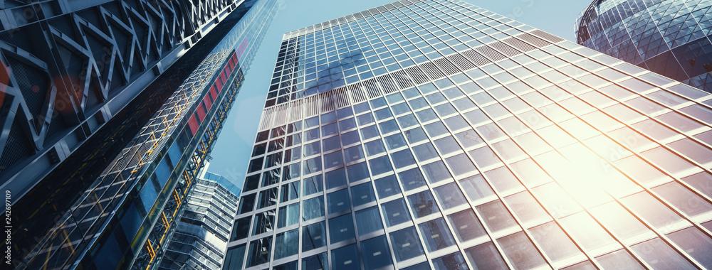 Fototapeta modern office buildings skyscraper in London city