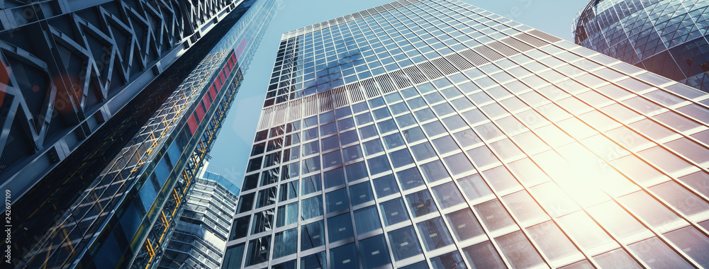 Fototapety, obrazy: modern office buildings skyscraper in London city