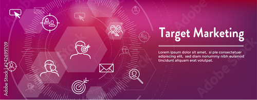 Photo  Target Marketing Icon Set and Web Header Banner