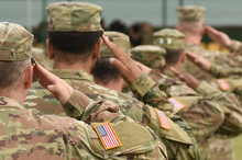US Soldier Salute. US Army. US...