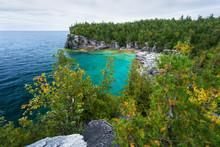 Anse Indian Head Dans Le Parc National De La Péninsule De Bruce Au Bord Du Lac Huron Dans La Baie Géorgienne En Ontario - Canada