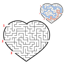 Labyrinth Heart. Game For Kids...