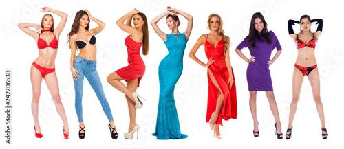 Fotografía  Collage fashion models in dress