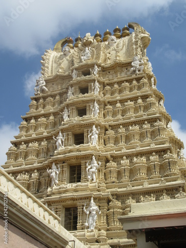 Sri-Chamundeshwari-Tempel am Chamundi Hill in Mysore / Südinidien