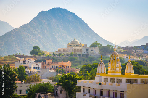 Staande foto Asia land Panoramic view on city Pushkar, Rajasthan, India.