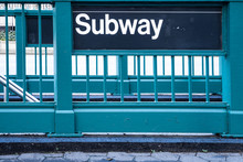 New York Style Subway Sign On ...