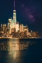 New York City Beautiful Night Over Manhattan