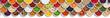 canvas print picture - Früchte Beeren Gemüse Obst Nüsse Gewürze Zutaten Banner von oben