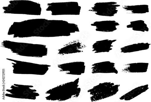 Fototapety, obrazy: Grunge brush stroke background vector collection