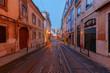 Lisbon. Old street at night.
