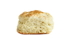 Isolated Buttermilk Southern Biscuit Over White