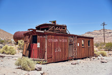 Abandoned Ghost Town In Death Valley National Park