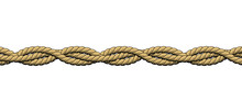 Twisted Ropes. Braided Ropes On White Background
