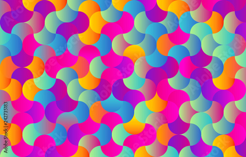 Abstract colors background for design - Vector - Pieces in a Puzzle