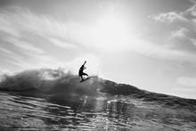 Surfer Surfing In Sea