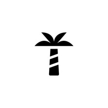 Palm Tree Icon Vector. Palm Tr...