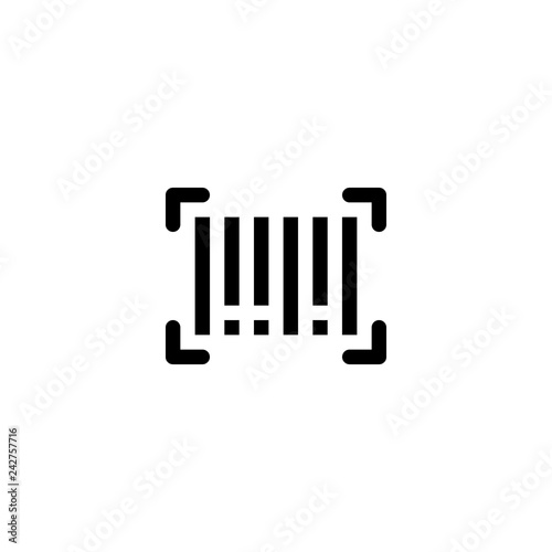 barcode icon vector  barcode vector graphic illustration