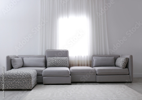 Simple Living Room Interior With Comfortable Sofa Near Window Buy
