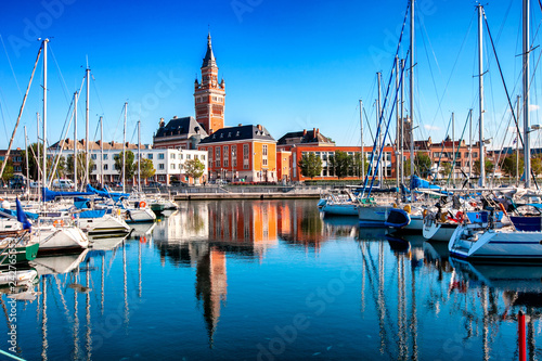In de dag Noord Europa The historic city of Dunkirk, the Atlantic coast of the ocean, France