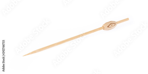 Fotografia  wood stick for fruit isolated on white background