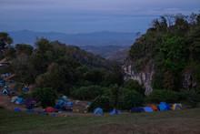 View Of Mountains At Doi Samer Dao, Nan. Thailand
