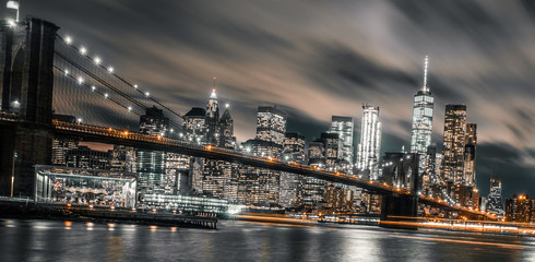 Brooklyn Bridge night long exposure