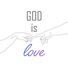 God Is Love Motivational Quote...