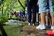 Touristen Plitvicer Seen