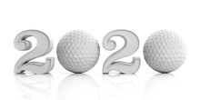 Golf 2020. New Year 2020 Isola...