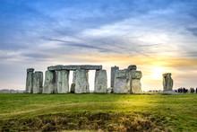 Stonehenge With Sun Set