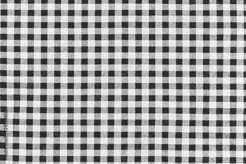 Fotografie, Obraz motif carreaux noirs tissu Vichy