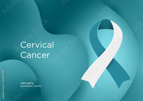 Valokuvatapetti Cervical Cancer Awareness Month